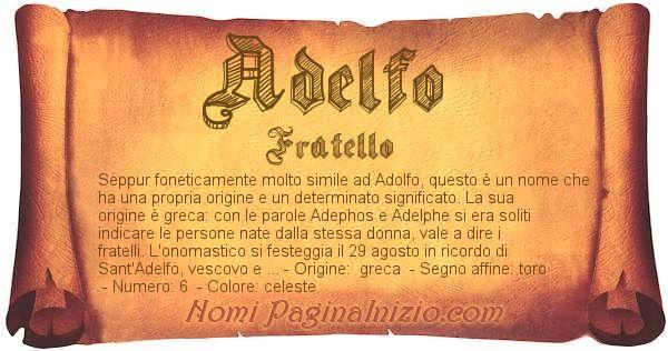 Nome Adelfo