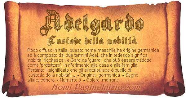 Nome Adelgardo