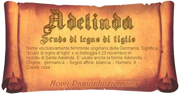 Nome Adelinda