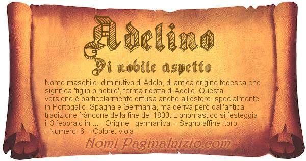 Nome Adelino