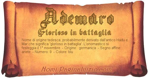 Nome Ademaro