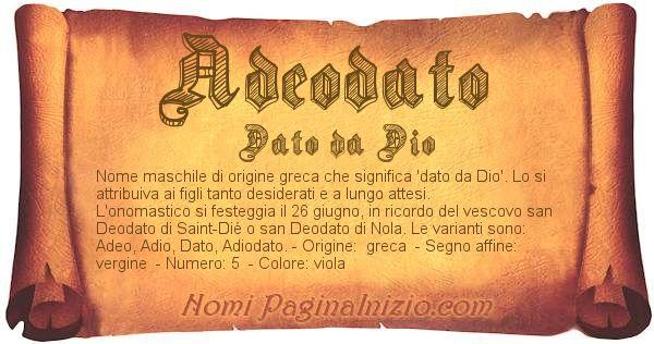 Nome Adeodato