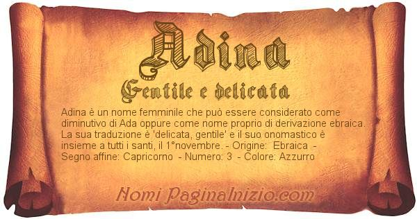 Nome Adina