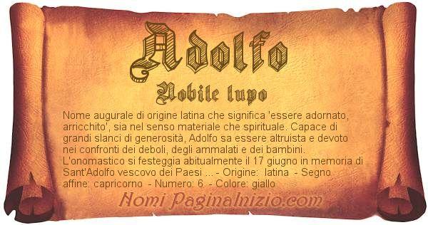 Nome Adolfo