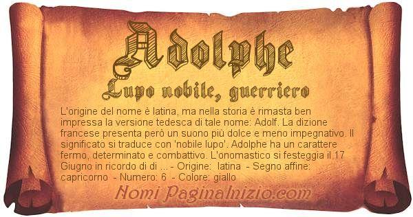 Nome Adolphe