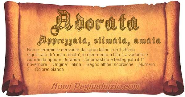 Nome Adorata