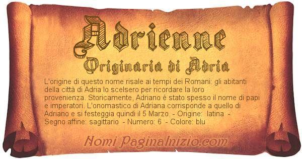 Nome Adrienne