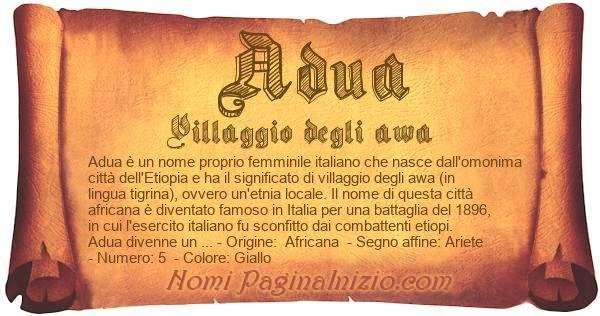 Nome Adua