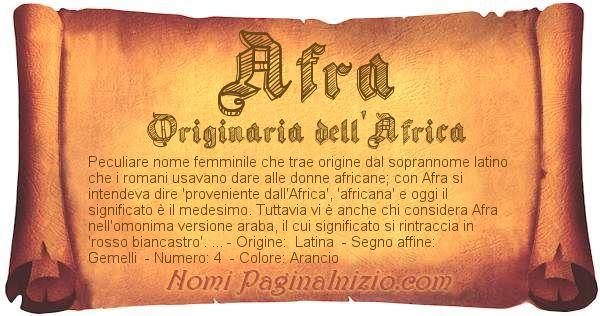 Nome Afra