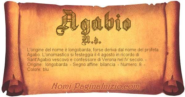 Nome Agabio