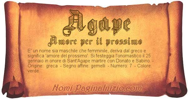 Nome Agape
