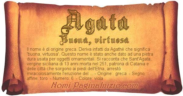 Nome Agata