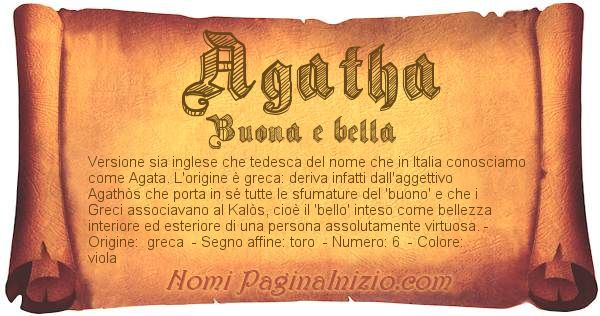 Nome Agatha