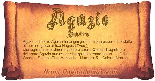 Nome Agazio