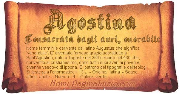 Nome Agostina