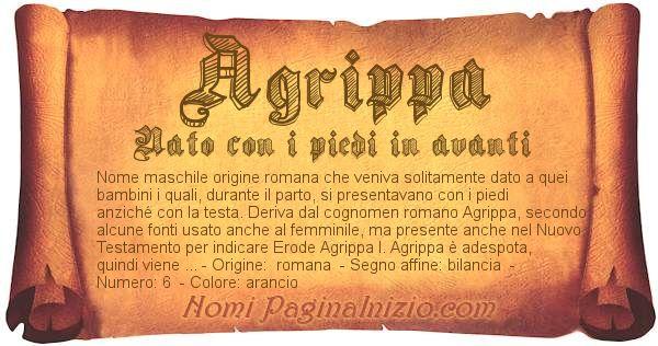 Nome Agrippa