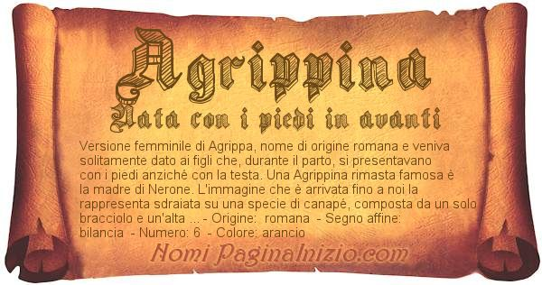 Nome Agrippina