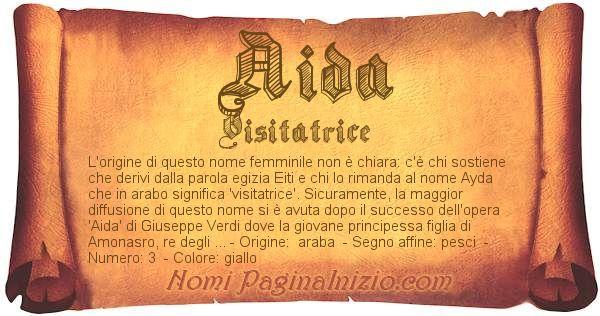 Nome Aida