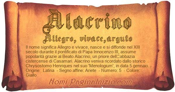 Nome Alacrino
