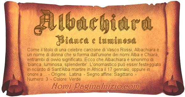 Nome Albachiara