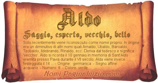 Nome Aldo