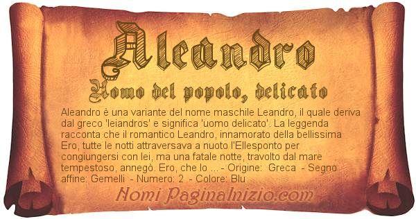 Nome Aleandro