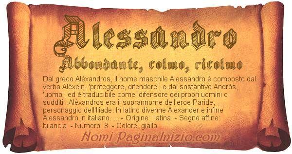 Nome Alessandro