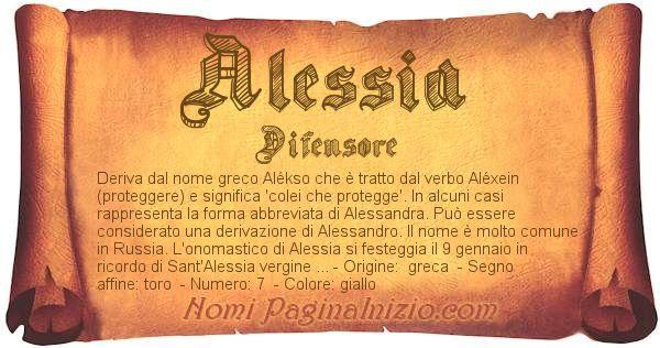 Nome Alessia