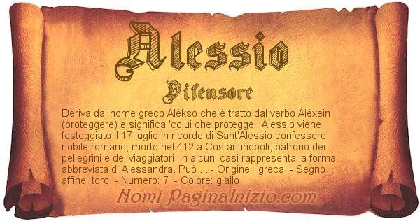 Nome Alessio