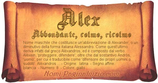 Nome Alex