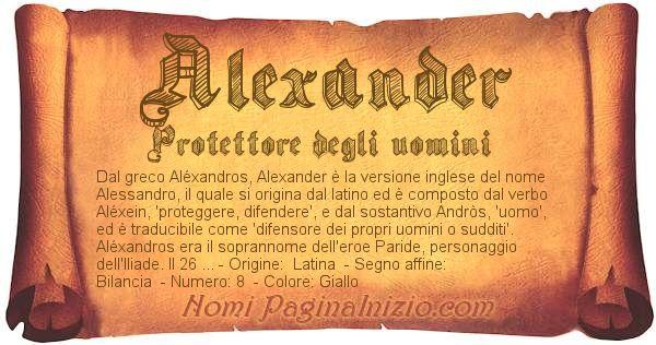 Nome Alexander