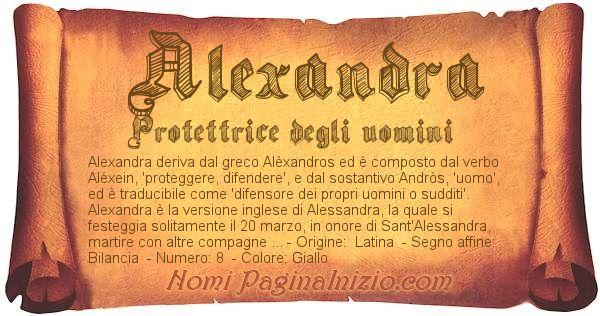 Nome Alexandra