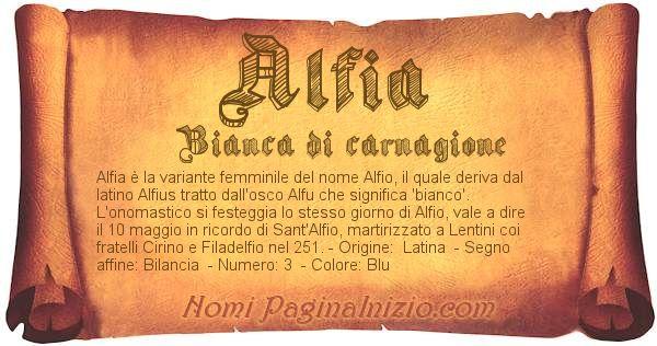 Nome Alfia