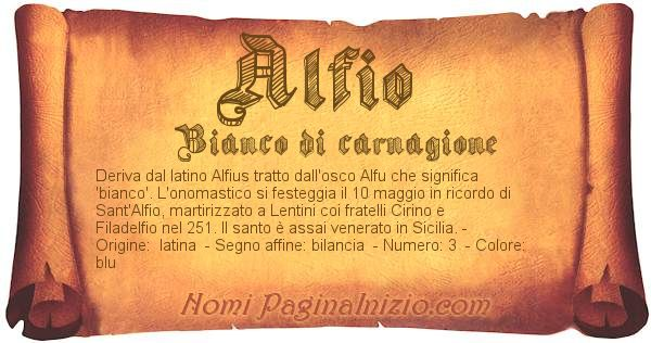Nome Alfio