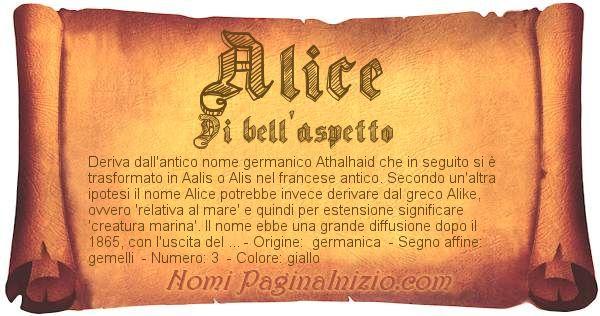 Pergamena col nome https://www.paginainizio.com/nomi/imgnomi/alice.jpg