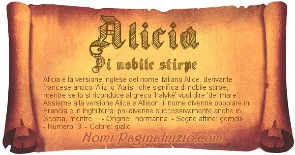 Nome Alicia