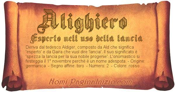 Nome Alighiero