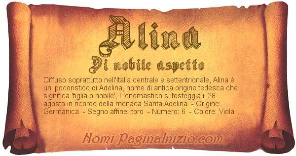 Nome Alina