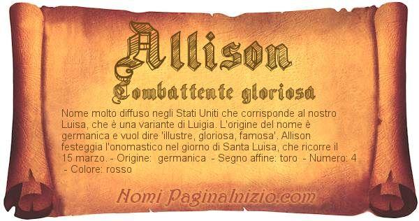 Nome Allison
