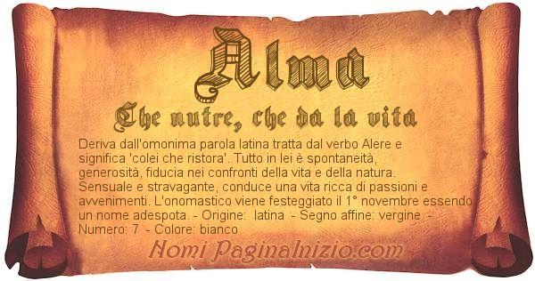 Nome Alma