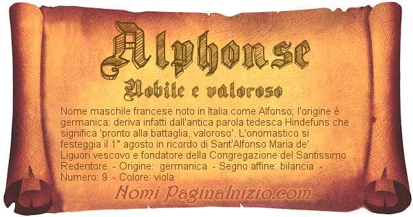 Pergamena col nome https://www.paginainizio.com/nomi/imgnomi/alphonse.jpg