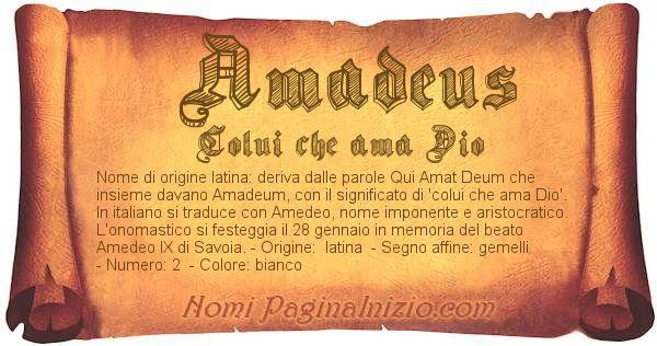 Nome Amadeus