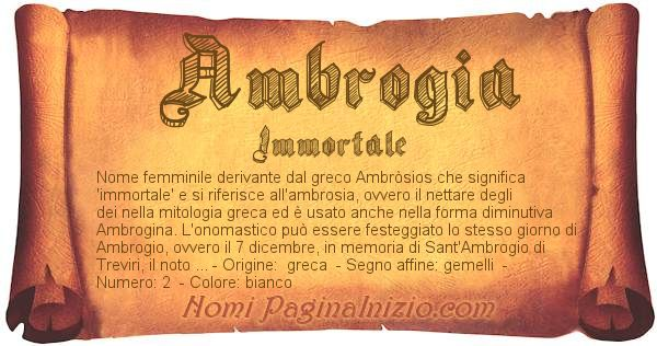 Nome Ambrogia