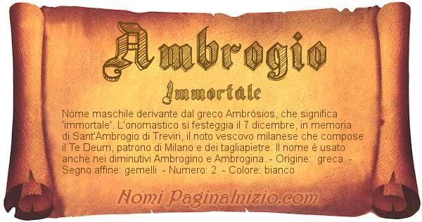 Nome Ambrogio