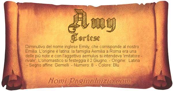 Nome Amy