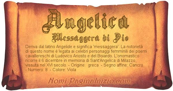 Nome Angelica