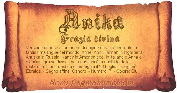 Nome Anika