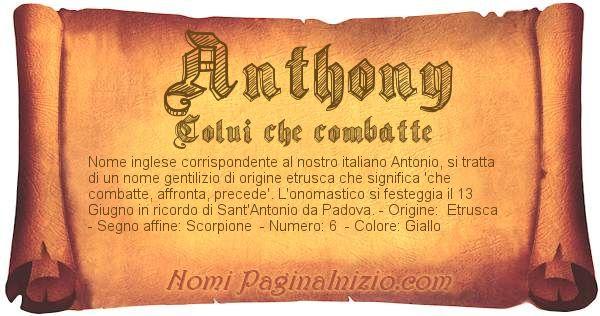 Nome Anthony