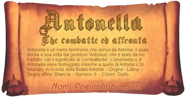 Nome Antonella