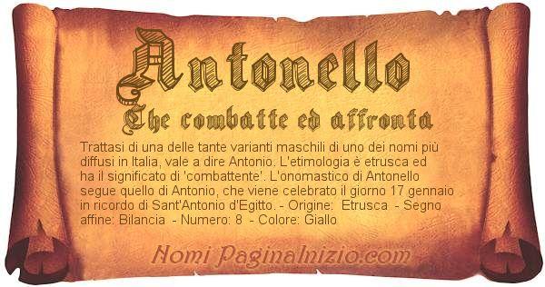 Nome Antonello